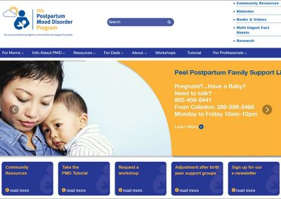 Peel Postpartum Mood Disorder Program Website